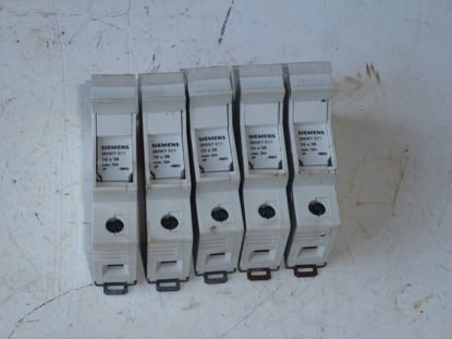 Picture of 5 Siemens 3NW7 011 Fuse Holders