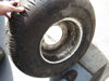Picture of 2 Toro 31x13.50-15 Turf Tires on 9 Bolt Rims Wheels to 4000D 4500D Reelmaster Mower 63-4480 58-5610