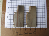 """Picture of Pair Moulder Blades Bits Knives 5/16"""" Corrugated Back Shaper Router Planer Molder Profile Blade Knife Bit Trim Base Crown"""