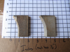 "Picture of Pair Moulder Blades Bits Knives 5/16"" Corrugated Back Shaper Router Planer Molder Profile Blade Knife Bit Trim Base Crown Chair Rail"