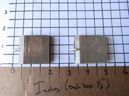 "Picture of Pair Moulder Blades Bits Knives 5/16"" Corrugated Back Shaper Router Planer Molder Profile Blade Knife Bit Trim Base Crown Chair Rail"