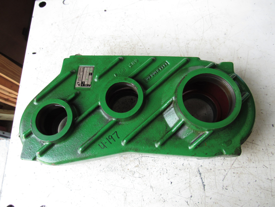 Picture of John Deere portion of AE70374 Conditioner Drive Gearcase Gearbox Housing 995 Platform Moco