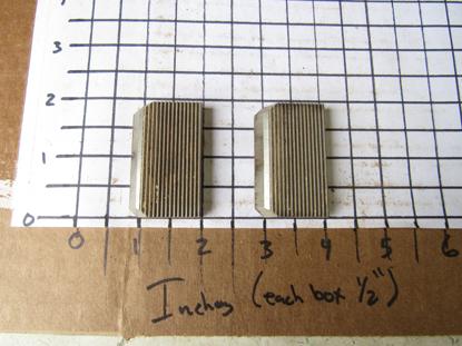 "Picture of Pair Moulder Blades Bits Knives 5/16"" Corrugated Back Shaper Router Planer Molder Profile Blade Knife Bit Straight Trim Base Crown Chair Rail"