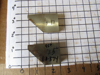 "Picture of Pair 45 Degree Moulder Blades Bits Knives 5/16"" Corrugated Back Shaper Router Planer Molder Profile Blade Knife Bit Trim Base Crown Chair Rail"