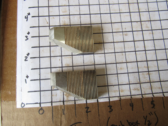 "Picture of Pair 60 Degree Moulder Blades Bits Knives 5/16"" Corrugated Back Shaper Router Planer Molder Profile Blade Knife Bit Trim Base Crown Chair Rail"