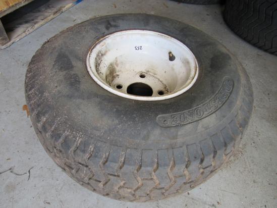 "Picture of Deestone 20x8-8 20x8.00-8 Turf Tire Toro Wheel Rim 4"" 4 bolt"