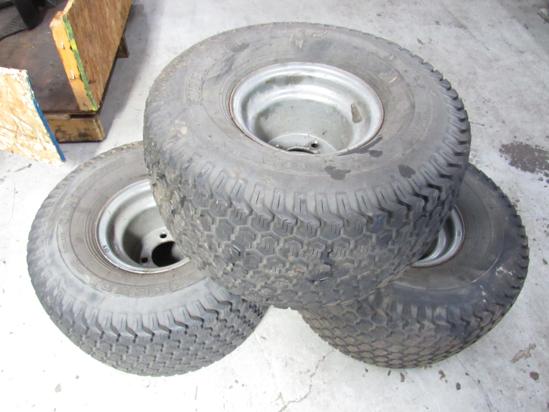 Picture of 3 Kenda Super Turf Tires 20x10.50-8 20x10.50r8 Toro Grandstand 74519 Rims
