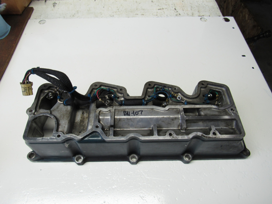 Picture of Kubota 1J500-14503 Cylinder Head Valve Cover off V3800-CR-TI-EV13 1J500-14502 1J500-14500