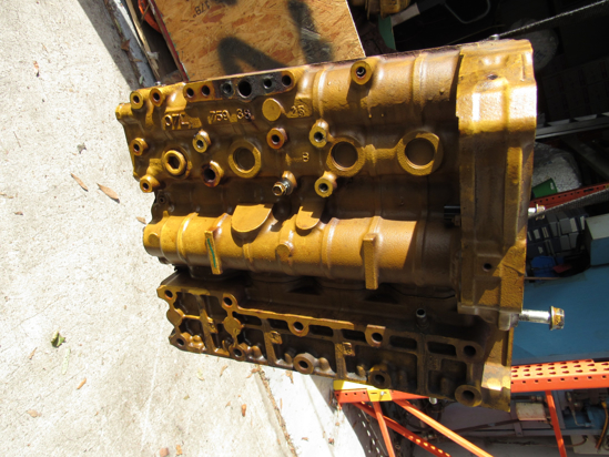 Picture of Cat Caterpiller 437-3429 Cylinder Block Crankcase to certain C3.3B Kubota V3307-CR engine NEEDS MACHINING