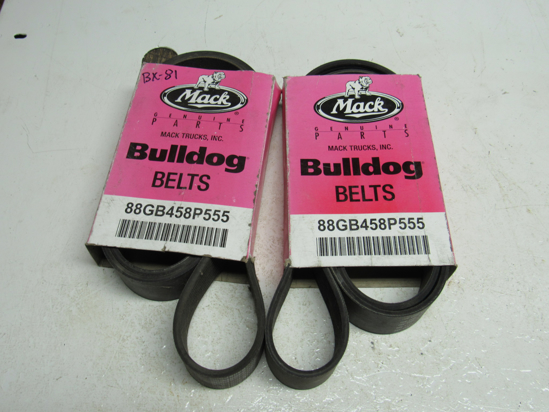 Picture of 2) Unused Old Stock Mack 88GB458P555 Serpentine Belts