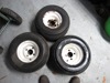Picture of 3 Smooth Tires 18x9.50-8 Wheels Rims 4 bolt Toro Greensmaster Mower