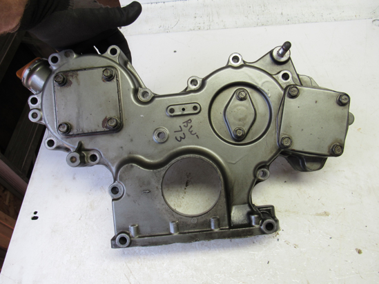 Picture of Gearcase Timing Cover off Yanmar 4TNV88-BDSA2 Diesel Engine 129604-01500